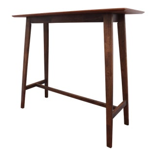 Contemporary Walnut Bar Table For Sale
