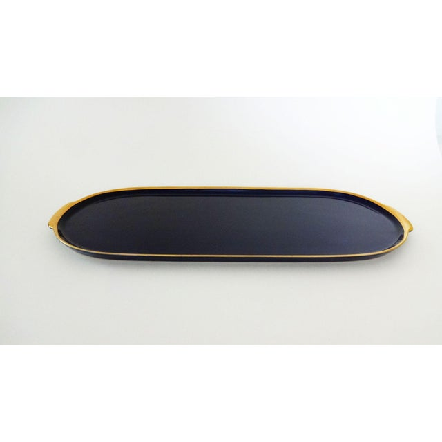 Lindner Kueps Baveria Cobalt Blue Porcelain Tray - Image 3 of 5