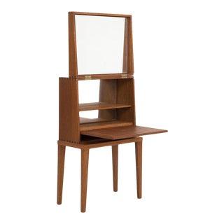 Danish Modern Compact Teak Vanity For Sale