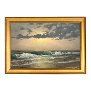 Marine Painting by Noted Artist John David Gue, Late 19th Century For Sale