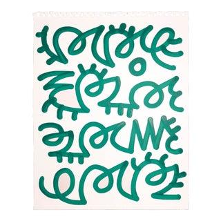 Alic Daniel Scribble in Green Painting