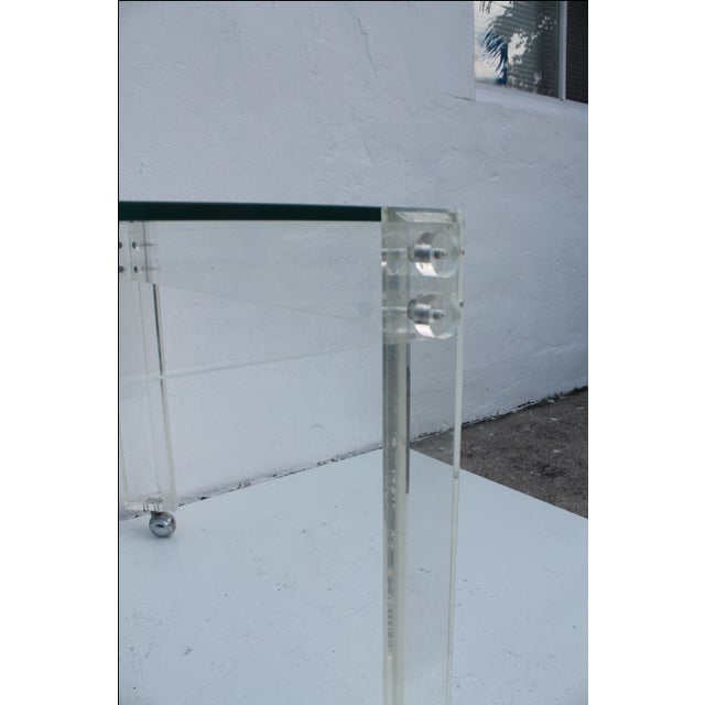 Square Lucite Dining Table Base - Image 6 of 8