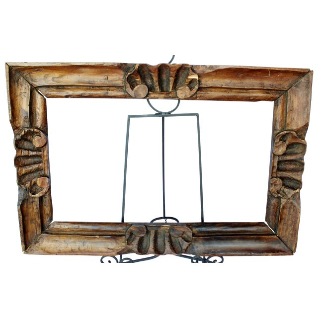 Hand Carved Picture Frame - Image 1 of 3