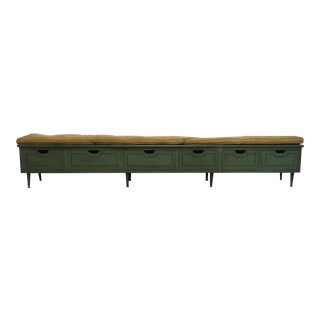 Long Vintage Bench W/ Storage