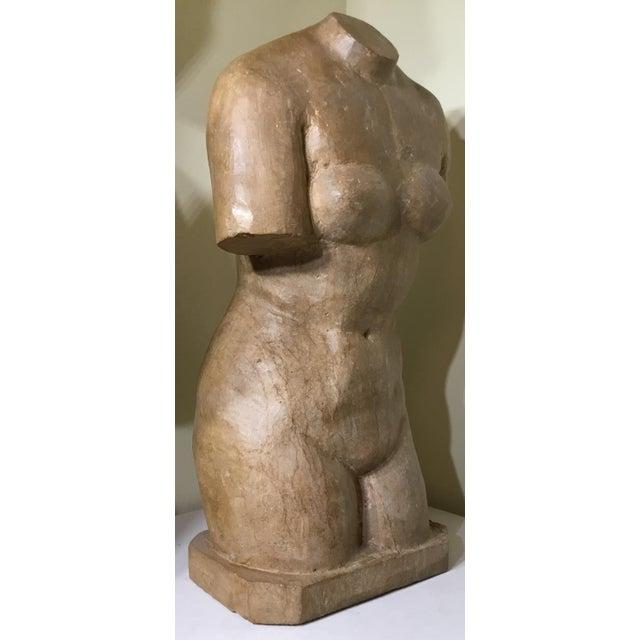 Vintage Marble Female Torso Statue For Sale - Image 5 of 11