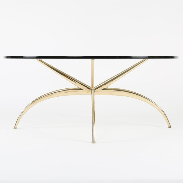 1950s 1950's VINTAGE ITALIAN BRASS COFFEE TABLE For Sale - Image 5 of 10