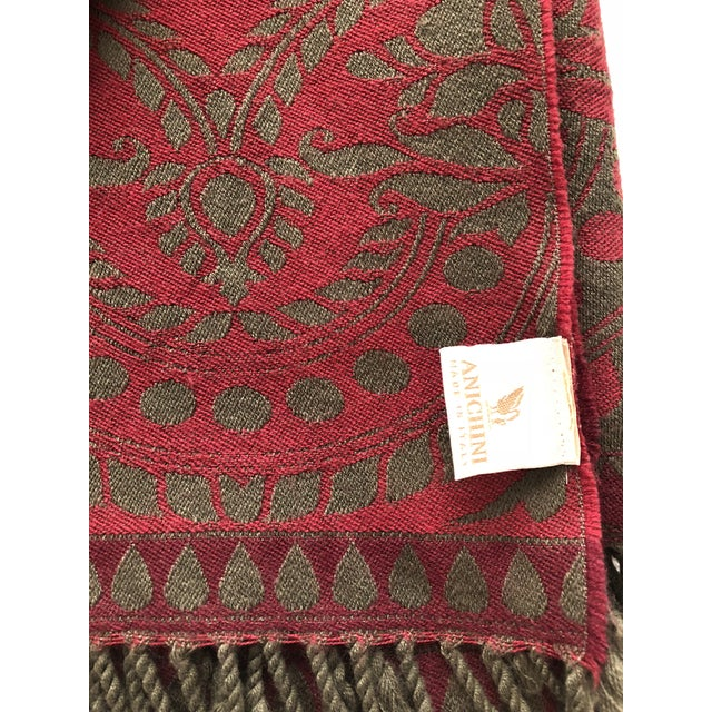 Two beautiful 100% wool throws made in Italy by Anichini. They are both Verona: colors are Red/Olive/Bordeaux and...