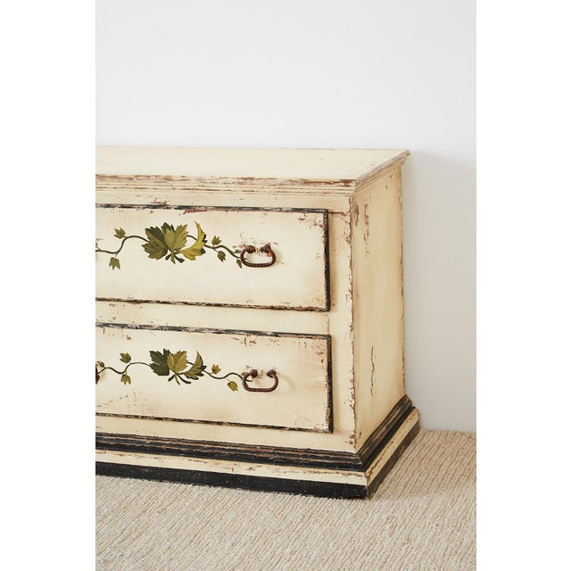 Country Italian Painted Four-Drawer Commode or Sideboard For Sale In San Francisco - Image 6 of 13
