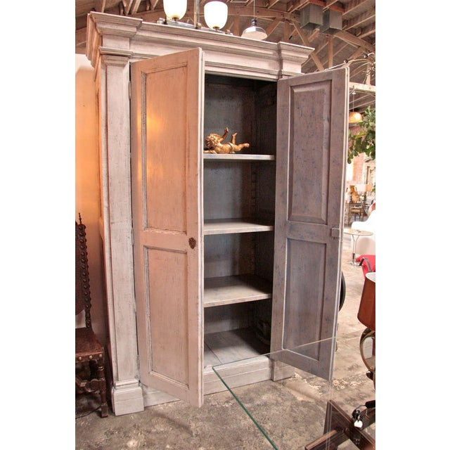 Italian 18th C. Oversized Distressed Armoire For Sale - Image 4 of 11