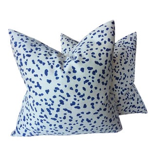 "Peter Fasano ""Double Dotty"" Cobalt Pillows - a Pair For Sale"