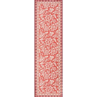 "Madcap Cottage Under a Loggia Rokeby Road Red Indoor/Outdoor Area Rug 2'3"" X 8' Runner For Sale"