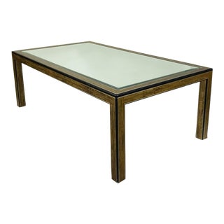 Mastercraft Dining Table with Mirrored Top For Sale