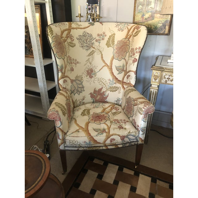 Georgian Style Wing Chairs by William Switzer -A Pair For Sale - Image 13 of 13