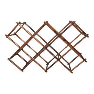 1970's Lacquered Bamboo Tortoiseshell Wine Rack For Sale