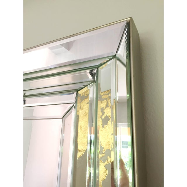 Leaning Six-Bevel Framed Mirror For Sale In Tampa - Image 6 of 9