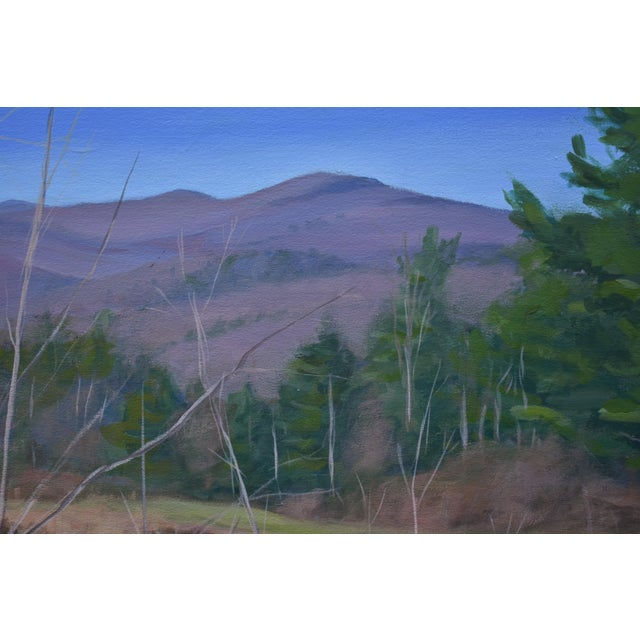 "2010s Large ""Canoe, Pond, and Mountains in Vermont"" Painting by Stephen Remick For Sale - Image 5 of 13"