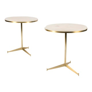 Matching Side Tables by Paul McCobb With Onyx Tops - a Pair For Sale