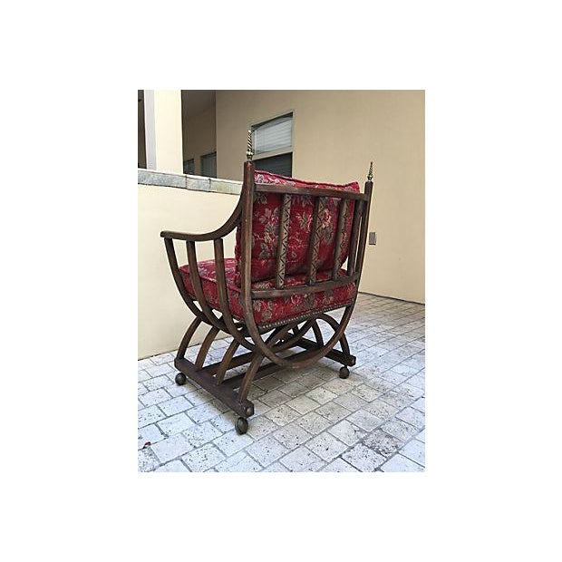 Red Floral Barrel Chair For Sale In Los Angeles - Image 6 of 6