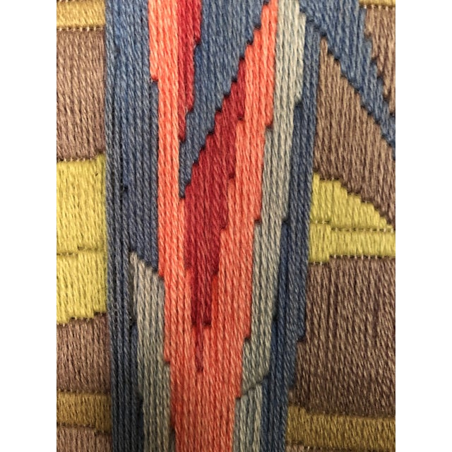 Mid-Century Modern Hand Crafted Parrot Needlepoint Artwork in Lucite Frame For Sale In Miami - Image 6 of 11