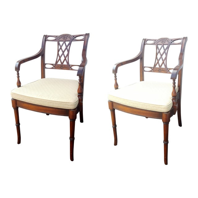 Cane Seat Armchairs - A Pair - Image 1 of 9
