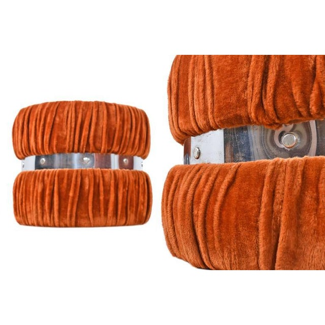 Mid-Century Modern Vintage Fuzzy Orange Coffee Table & End Tables - Set of 3 For Sale - Image 3 of 6