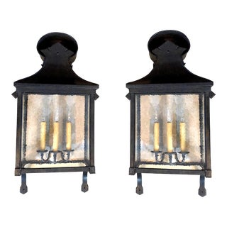 Dennis & Leen Carriage Wall Lantern - a Pair For Sale