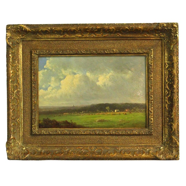 """Late 19th Century Antique Thomas Bigelow Craig """"Berkshire Meadows"""" Painting For Sale"""