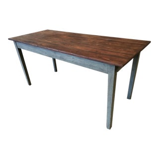 Swedish Antique Scrub Top Dining Table