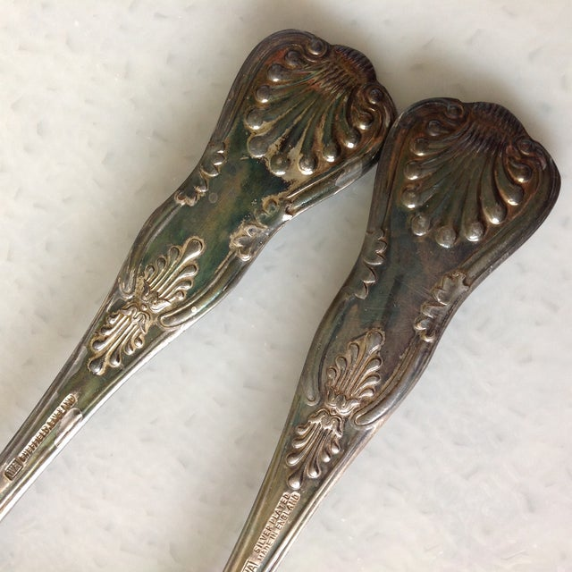 English Silver Plated Berry Servings Spoons - Pair - Image 7 of 9