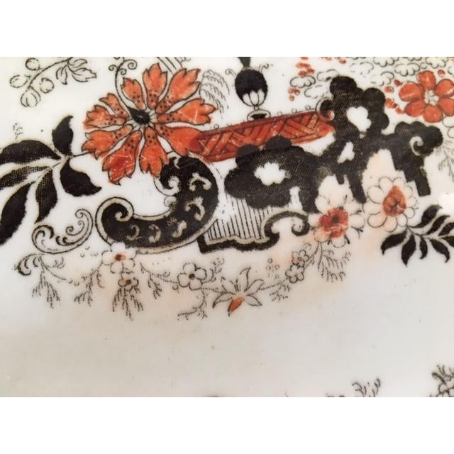 Traditional Late 19th Century Ridgway Stoke on Trent Chinese Japan Pattern Platter For Sale - Image 3 of 9