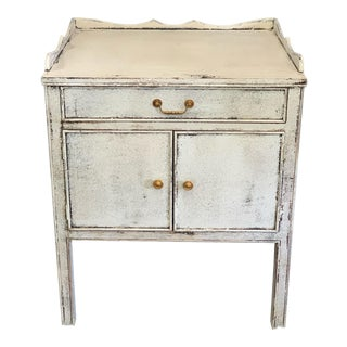 Spanish Antique White Nightstand For Sale