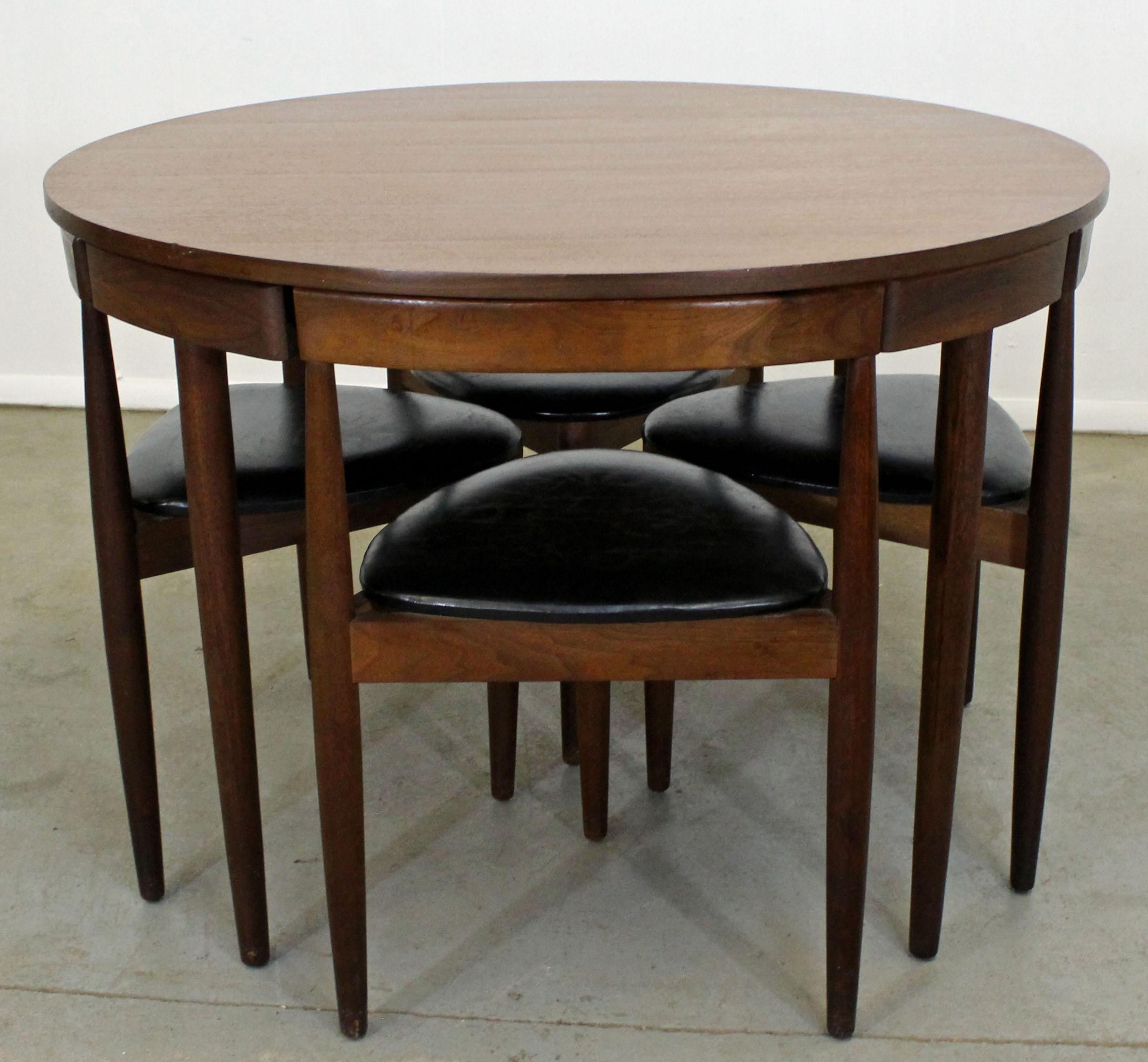 Good Mid Century Danish Modern Hans Olsen Teak Roundette Dining Set For Sale    Image 10