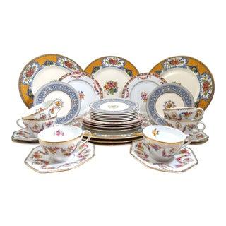 Vintage Mismatched China Dinnerware - 30 Piece Set