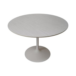 Mid-Century Round Tulip Base Saarinen Style Dining Table by Burke For Sale