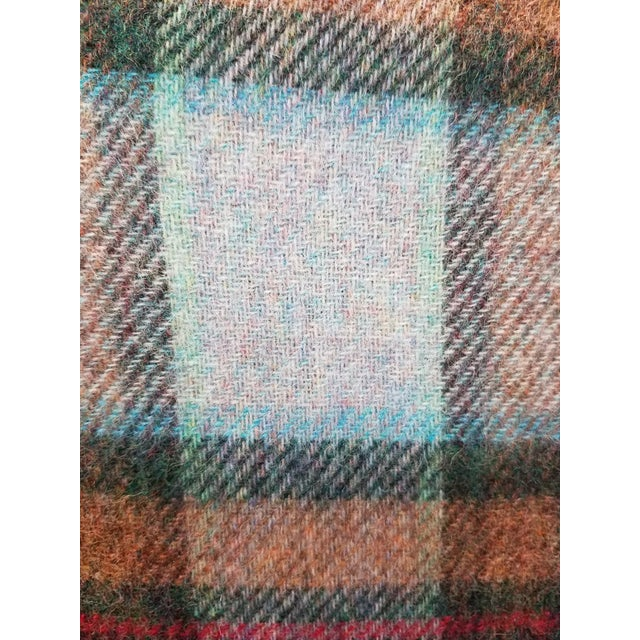 Wool Throw Red Blue Orange Plaid - Made in England For Sale - Image 11 of 12