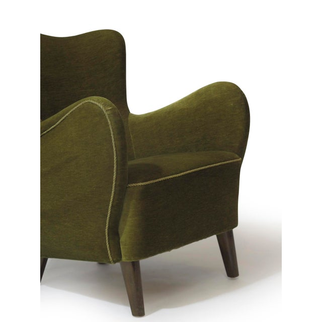 Scandinavian Mohair Lounge Chair For Sale - Image 9 of 11