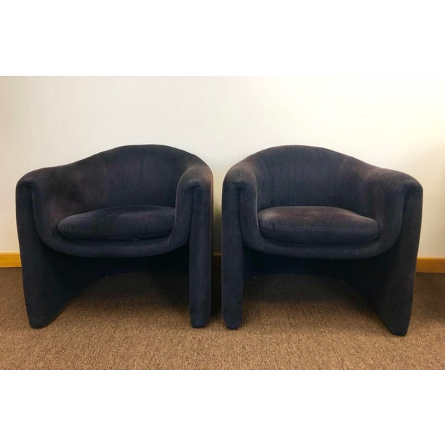 Mid-Century Modern 1990s Vladimir Kagan for Preview Biomorphic Freeform Armchairs - a Pair For Sale - Image 3 of 8