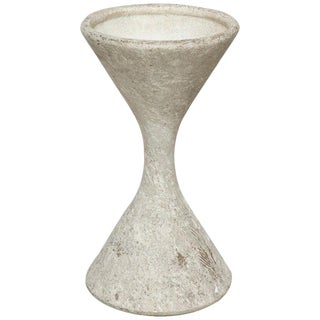 1960s Vintage Willy Guhl Cement Hourglass Planter For Sale
