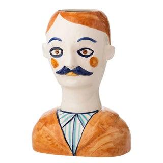 Gabriel Painted Head Vase For Sale