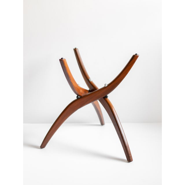 Contemporary 1960s Mid-Century Modern Forest Wilson Sculptural Wood & Glass End Table For Sale - Image 3 of 11