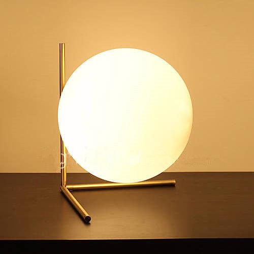 Contemporary 1990s Contemporary Scandinavian Glass Bubble Desk Lamp For Sale - Image 3 of 5