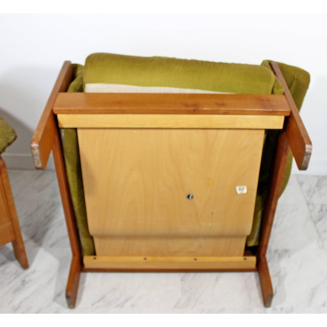Pair of 1960s Mid-Century Modern N. Eilersen Danish Lounge Chairs For Sale - Image 11 of 12
