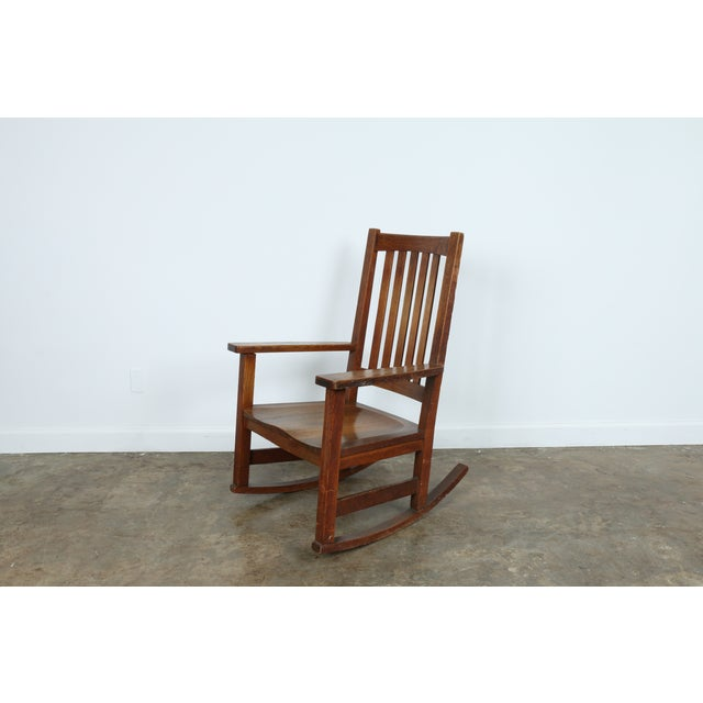 Stickley Oak Rocking Chair - Image 2 of 11