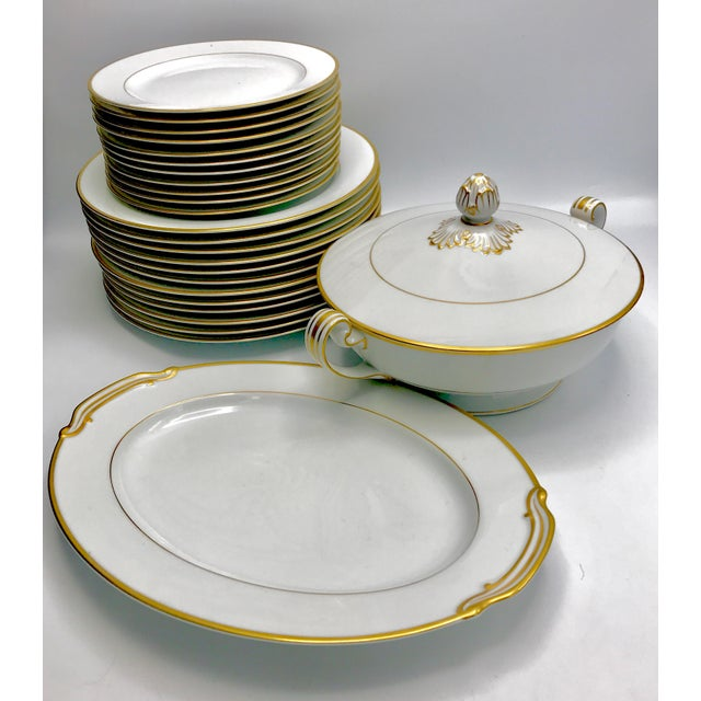 Stunning set of Noritake pattern #4983 otherwise known as Goldcroft. This pattern was first made in 1948 right after the...