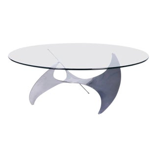 1970s Aluminum Propeller Coffee Table by Knut Hesterberg For Sale