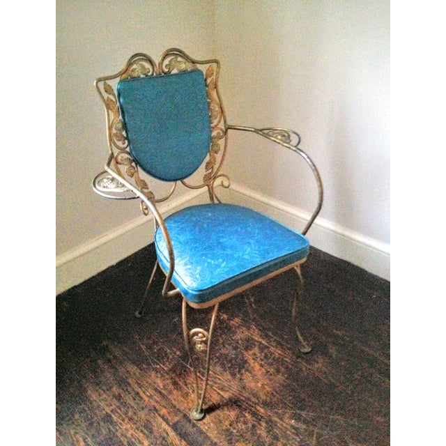 Mid Century Hollywood Regency Accent Chair - Image 7 of 11