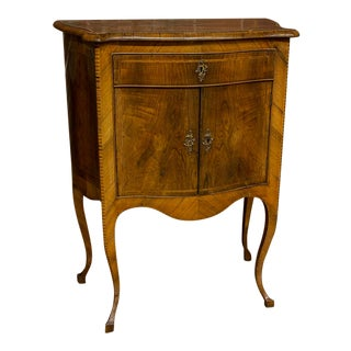 Italian Walnut & Satinwood Side Cabinet For Sale