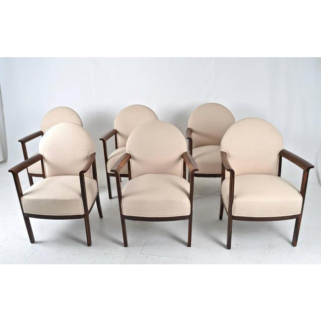 1930s Zebra Wood Belgian Dining Chairs - Set of 6 For Sale - Image 4 of 9