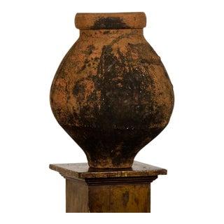 19th Century Italian Terra Cotta Bulb Shape Urn For Sale
