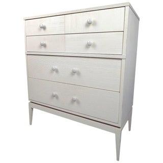Kroehler Furniture White 4-Drawer Highboy Dresser For Sale